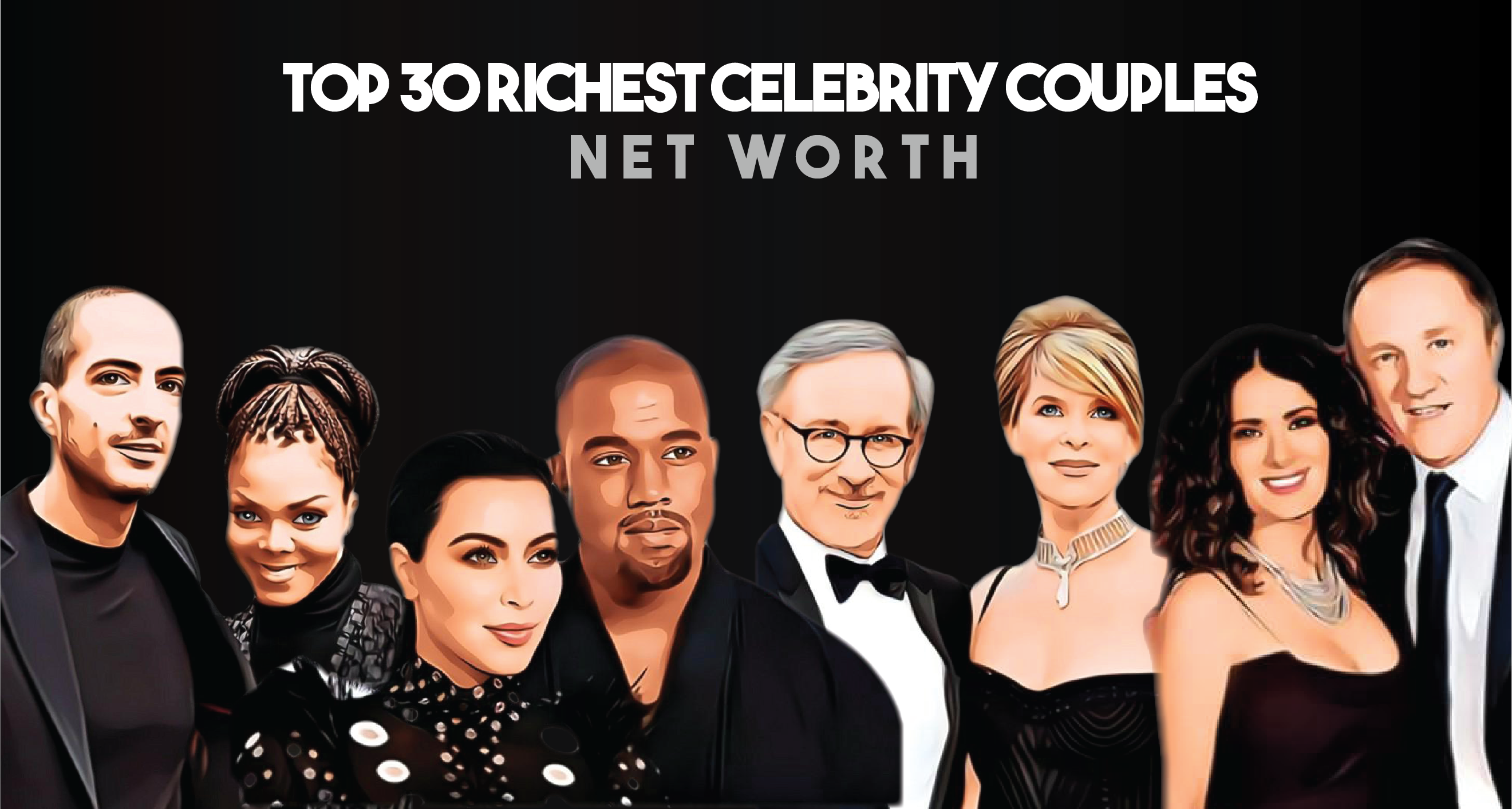 Top 30 Richest Celebrity Couples