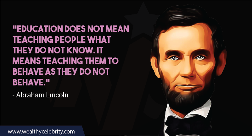 Abraham Lincoln about education