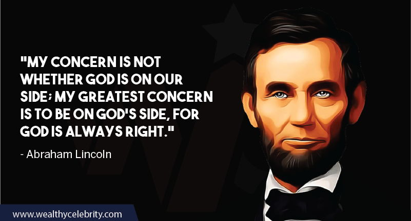 Abraham Lincoln quote about God