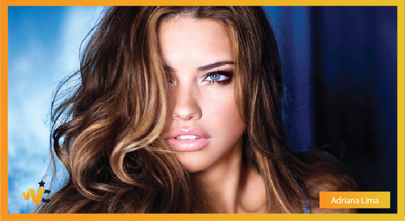 Adriana Lima natural eye color - blue eyes