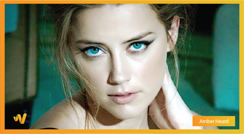 Amber Heard natural eye color - blue eyes