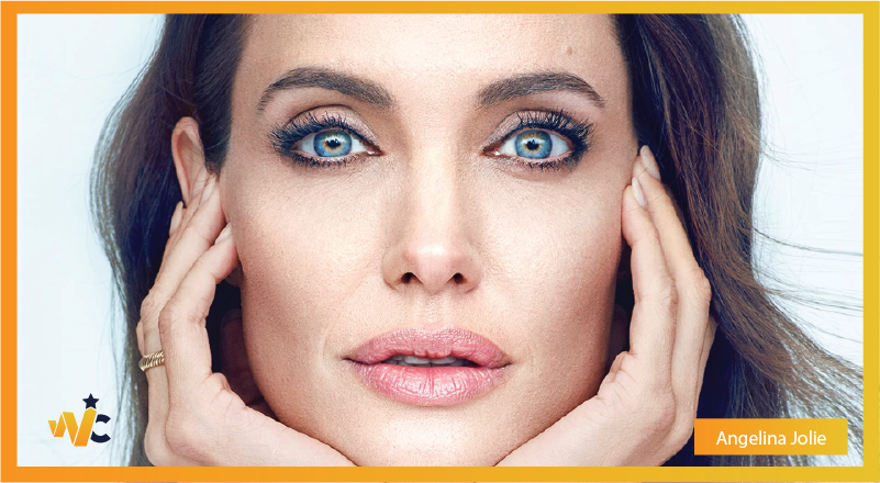 Angelina Jolie natural eye color - blue eyes