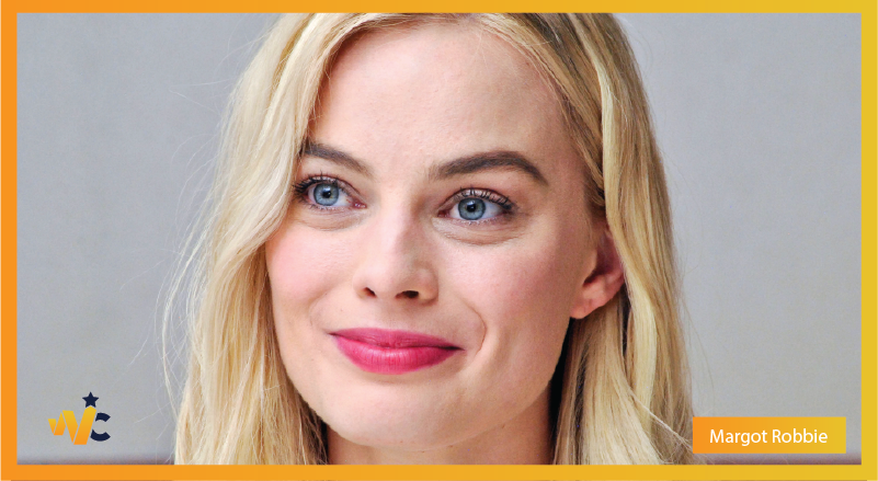 Margot Robbie natural eye color - blue eyes