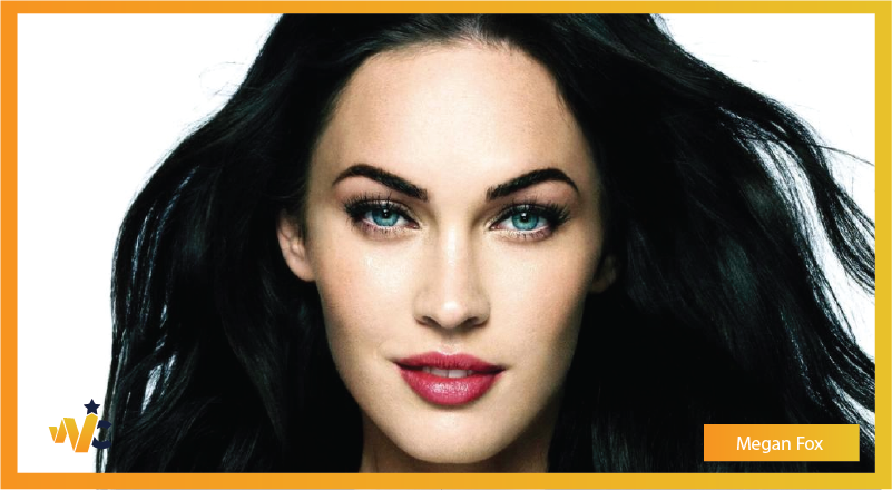 Megan Fox natural eye color - blue eyes