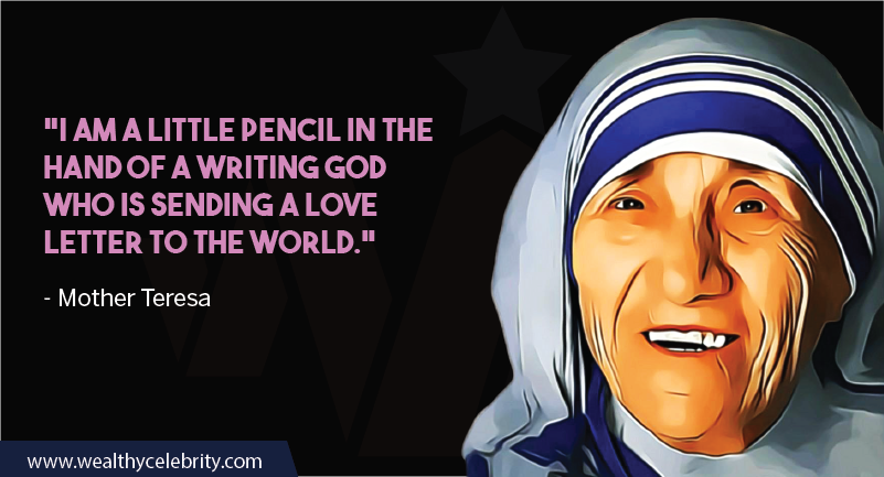 Mother Teresa quote about God and love