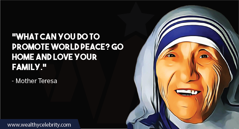 Mother Teresa quote about family