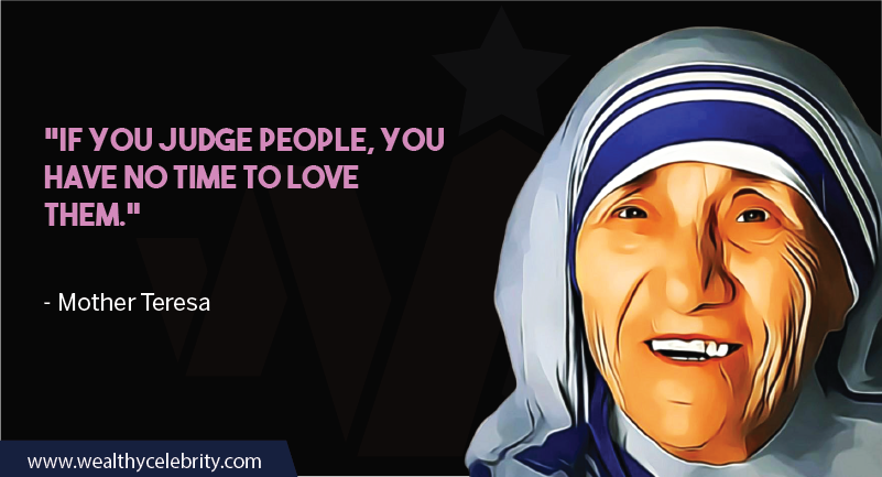 Mother Teresa quote about judging others
