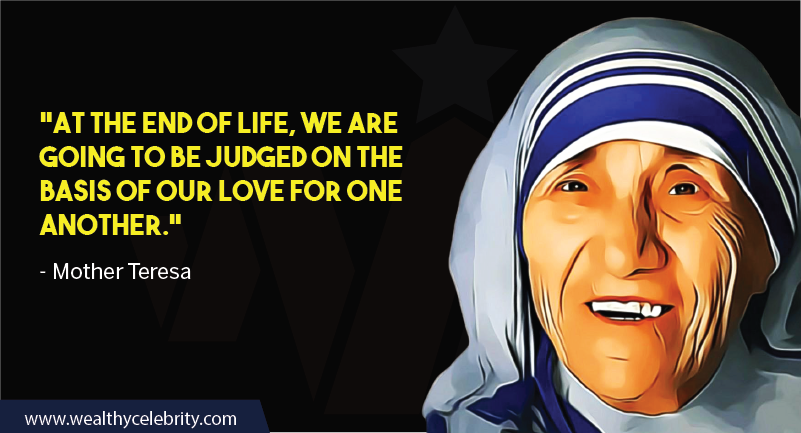 Mother Teresa quote about judging