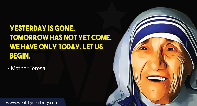 Mother Teresa quote about life and inspiration