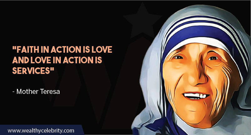 Mother Teresa quote about love