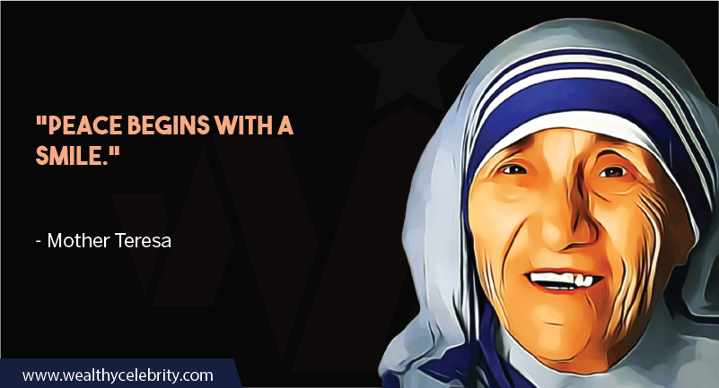 Mother Teresa quote about smile
