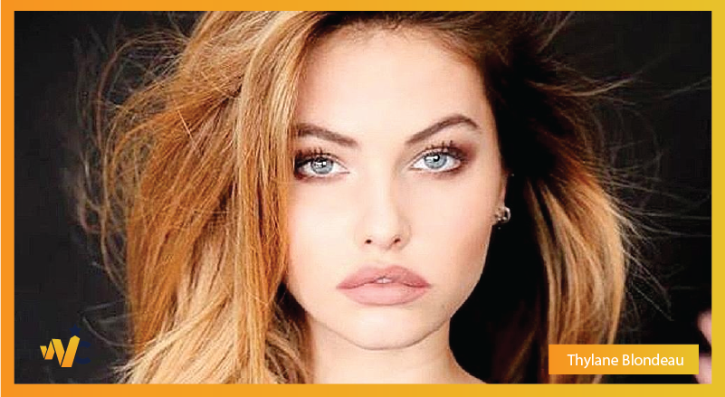 Thylane Blondeau natural eye color - blue eyes