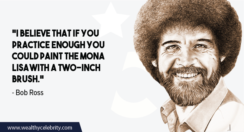 Bob Ross quote about Practice and Motivation