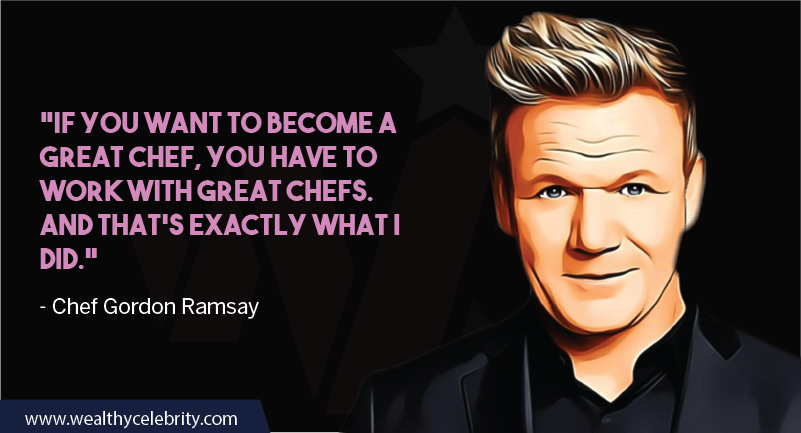 Gordon Ramsay about becoming chef and cooking