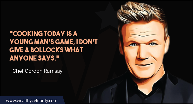 Gordon Ramsay about cooking