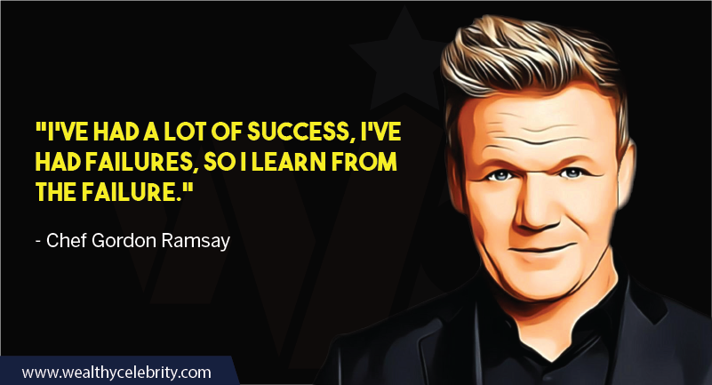 Gordon Ramsay about success and failure