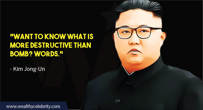 Kim Jong-Un quotes about bomb and destruction