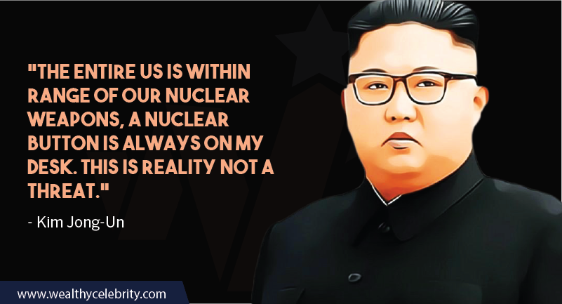 Kim Jong-Un quotes about nuclear war