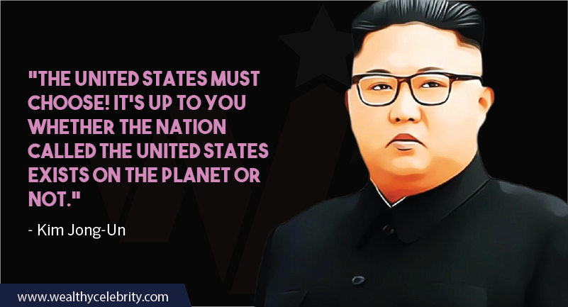 Kim Jong-Un quotes about united states