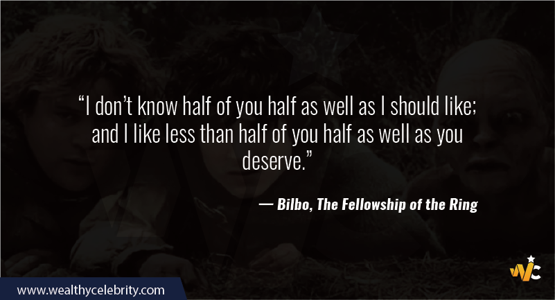 Lord of the Ring quote - Bilbo, The fellowship of the Ring