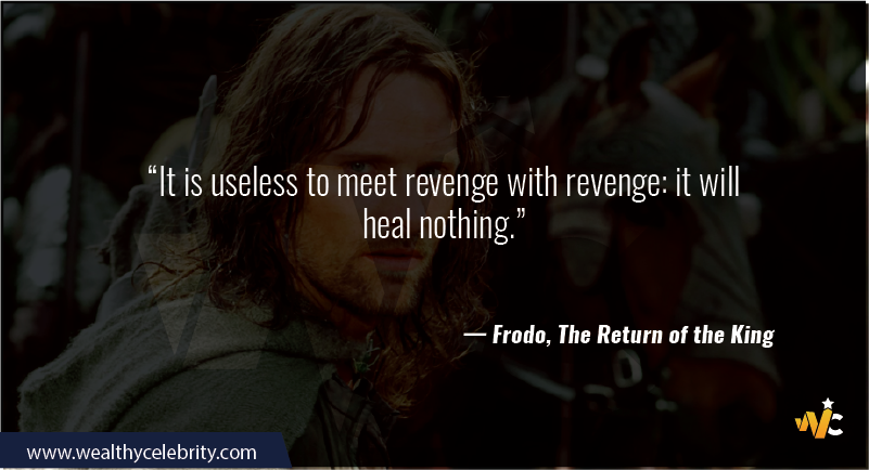 Lord of the Ring quote about revenge- Frodo, The Return of the King