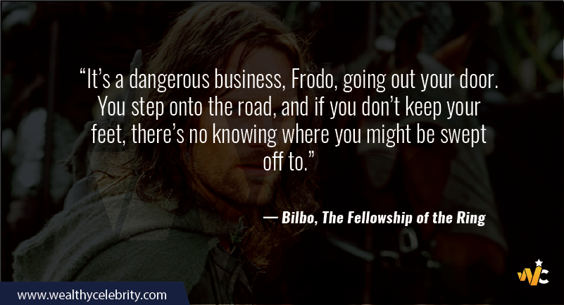 Lord of the Ring quotes - Bilbo, the fellowship of the ring