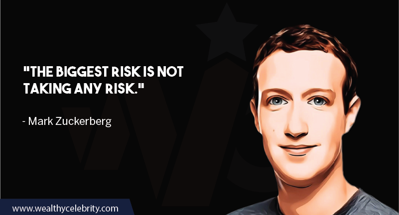 Mark Zuckerberg motivational quotes taking risk