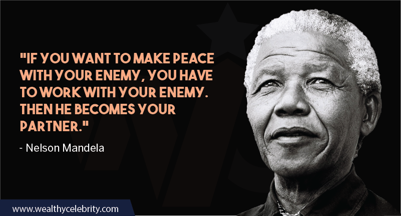 Nelson Mandela Quotes about Leadership and peace