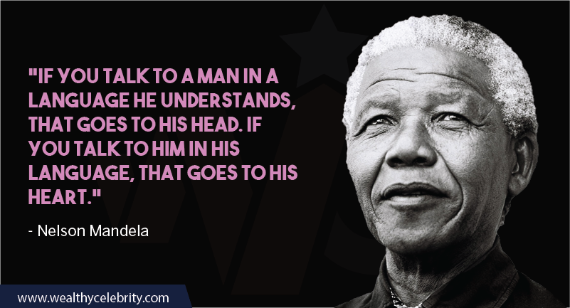 Nelson Mandela Quotes about language and love