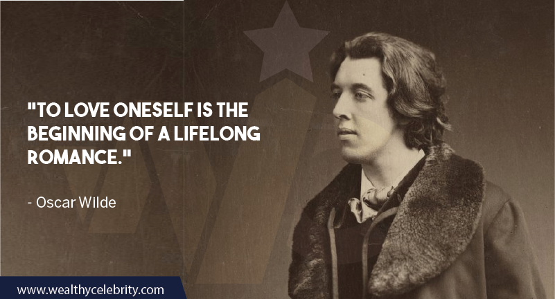 Oscar Wilde Quote about Self Love and Romance