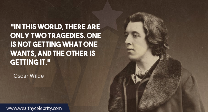 Oscar Wilde Quote about life and tragedy