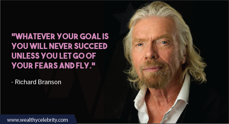 Richard Branson Quotes about Fears and success