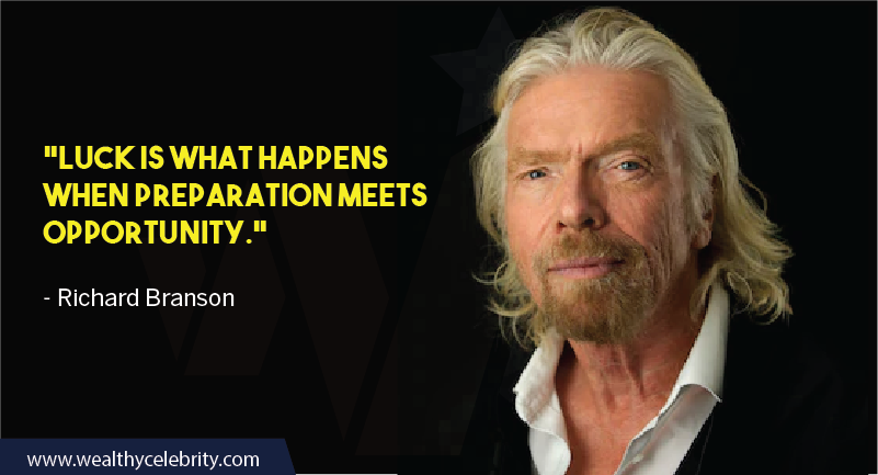 Richard Branson Quotes about Luck