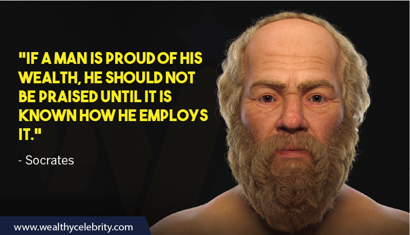 Socrates quotes about Wisdom & Wealth