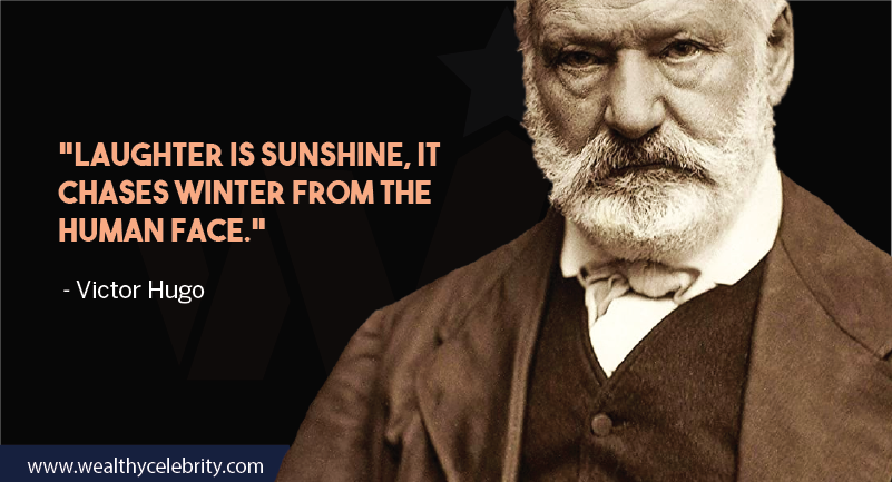 Victor hugo motivational quote about laughter from Les Miserables