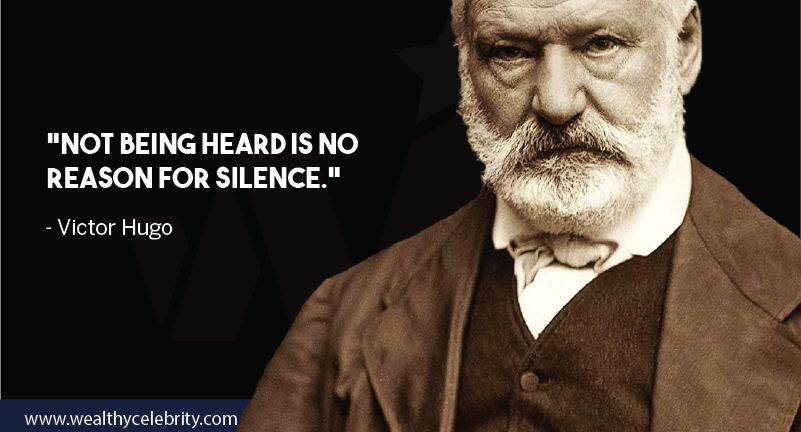 Victor hugo motivational quote about silence from Les Miserables