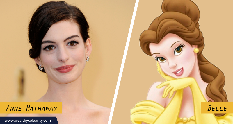 Anne Hathaway Disney look Alike Belle