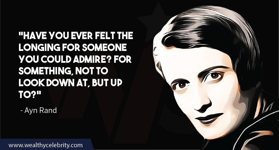Ayn Rand Quotes about life and speical feeling