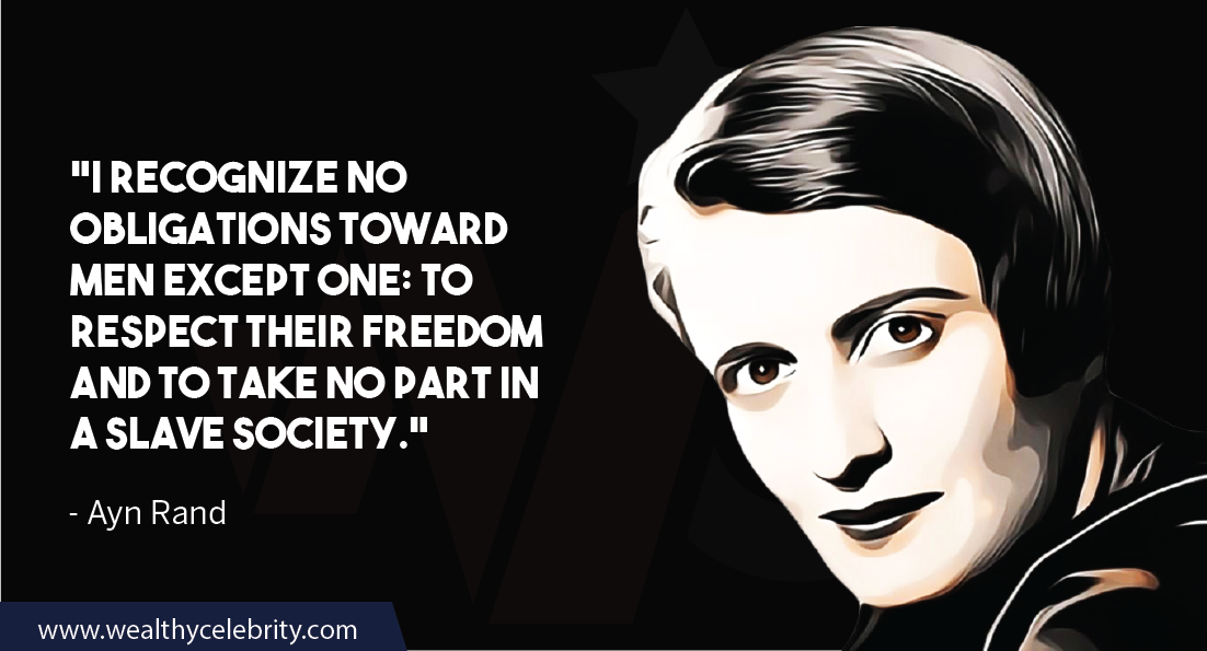 Ayn Rand Quotes about men, freedom, slavery and society