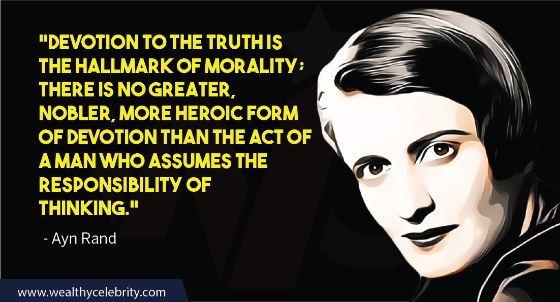 Ayn Rand quotes about life and responsibilities