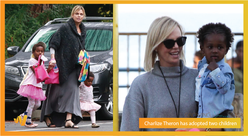 Charlize Theron adopted two children
