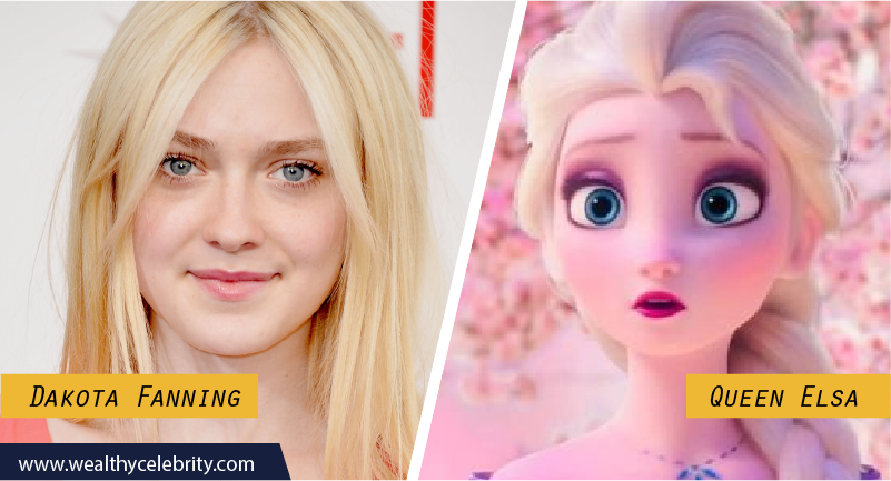 Dakota Fanning Disney Look Alike Queen Elsa