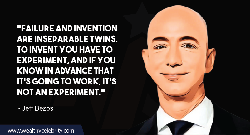 Jeff Bezos Quotes about failure and experiments