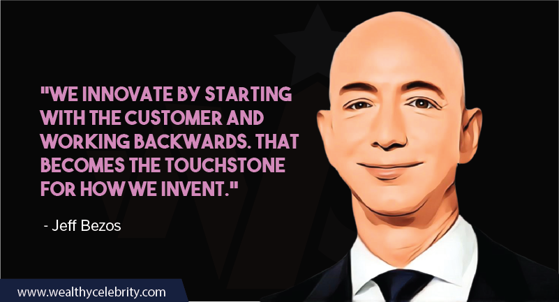 Jeff Bezos Quotes about innovation and customer focus