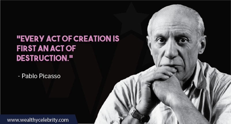 Pablo Picasso about creation