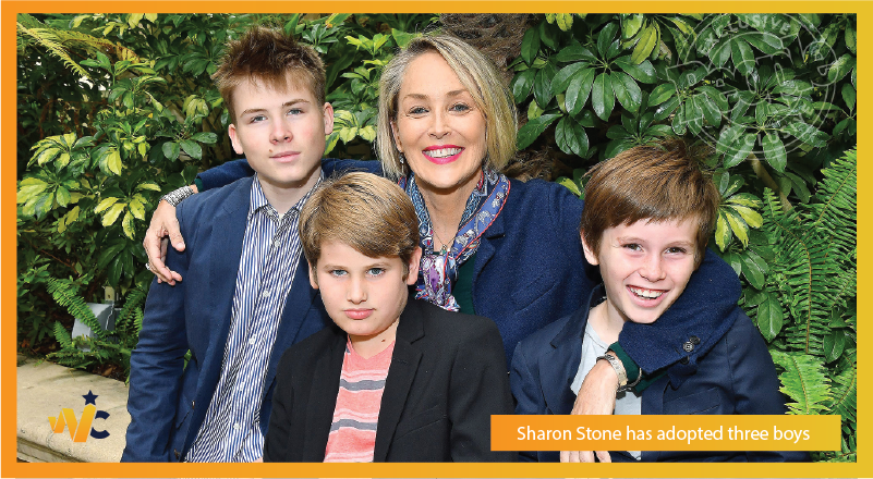 Sharon Stone adopted three boys