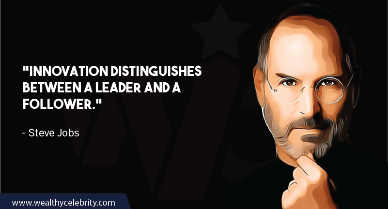 Steve Jobs Motivational quotes about innovation, leadership and followers