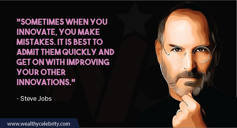 Steve Jobs Quotes about Innovation and learning from Mistakes