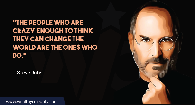 Steve Jobs motivational quotes about being your self and change the world
