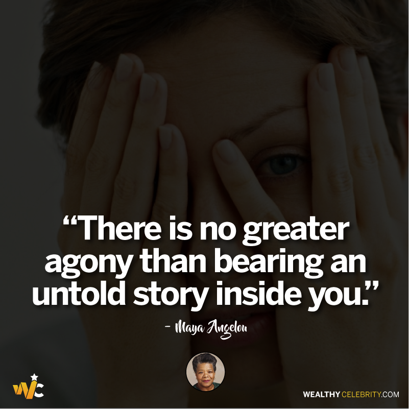 Maya Angelou quotes about being introvert and inside